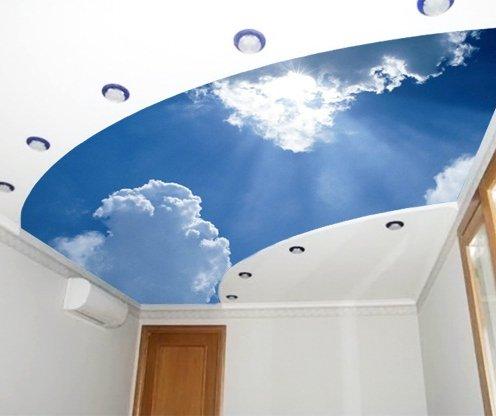 Фотообои облака на потолок